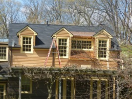 After - guest room dormers from outside