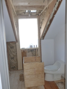New single dormer in the bathroom from the inside